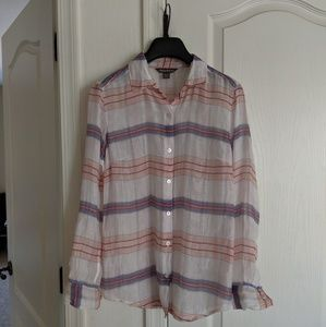 Tommy Bahama top size xs cotton and silk